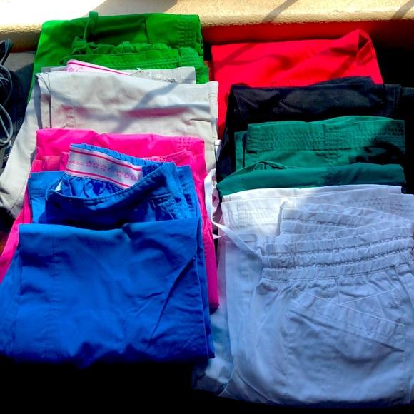 9 pairs of medium sized scrum pants